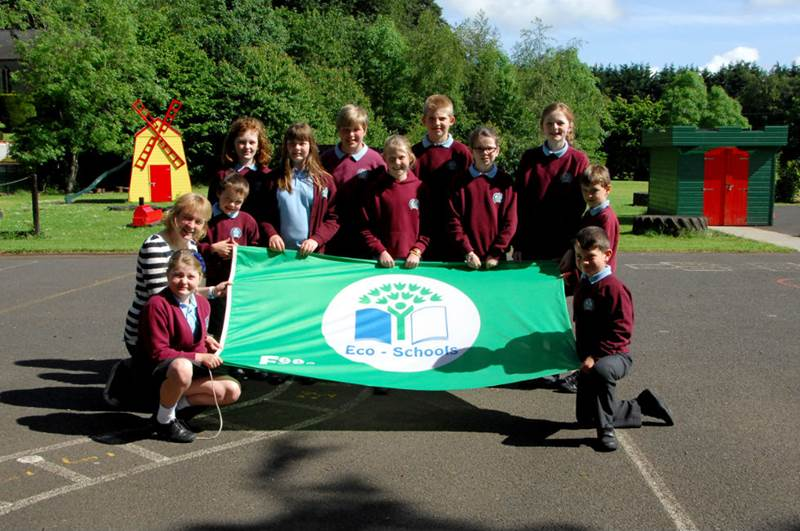 Our School Council with our 2nd Green Eco Schools Award