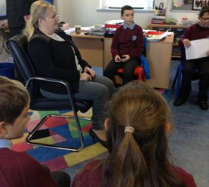 Northern Ireland Childrens Commissioner visits Knockloughrim Primary School